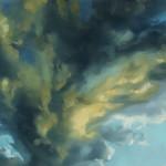 """Cloudscape II, Oil on steel, 14""""x11"""""""