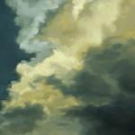 """Cloudscape III, Oil on steel, 14""""x11"""""""