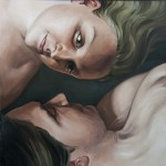 "Couple, Oil on linen, 60""x60"""